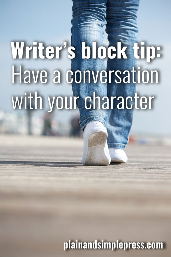 Another idea on how to get over writer's block!