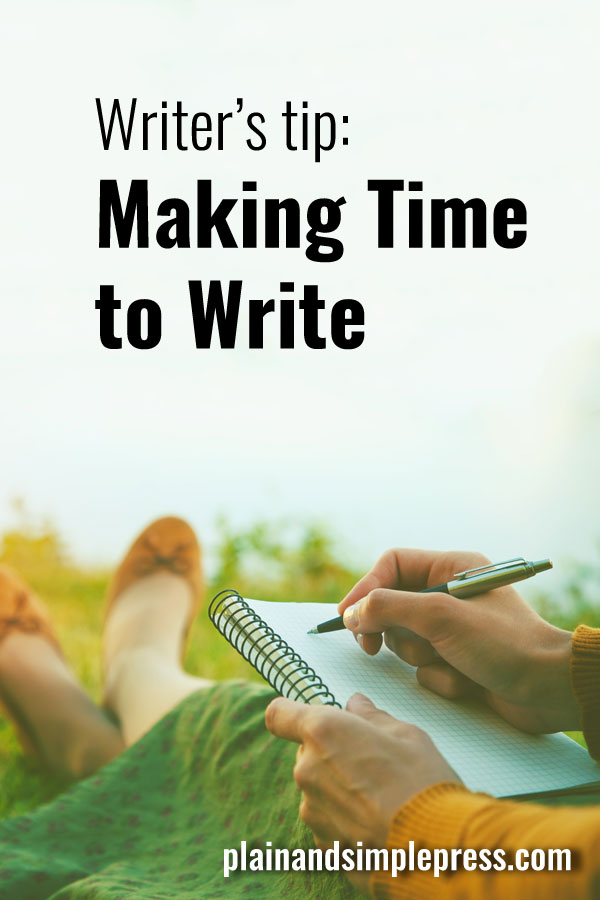 Writing tips - How to make time to write