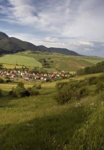 Idyllic village ( Likavka ) in Mountains in beautiful region Liptov. Slovakia - Europe