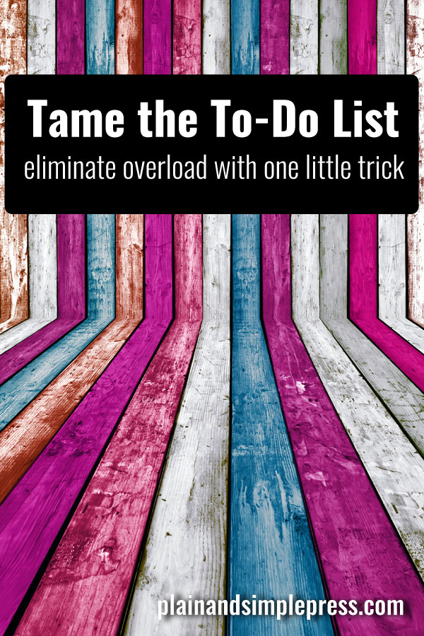 Tame your to-do list with this one simple productivity hack. Especially great for writers and other creative entrepreneurs.