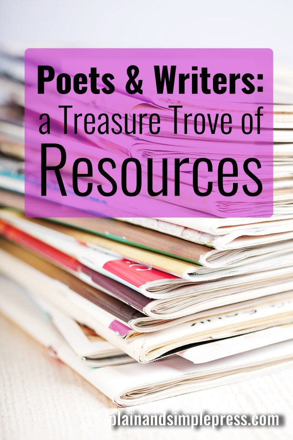 One of the richest troves of resources for poets and prose writers that you'll ever find.